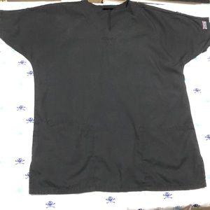 XXS Black Cherokee Scrub Top